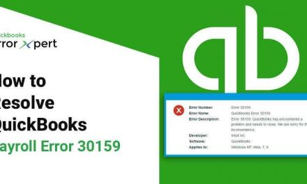 To fix and resolve Quickbooks error Code 30159