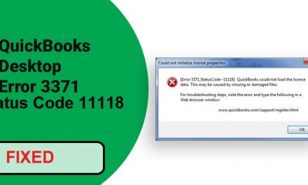 How to Fix & Edit Quickbooks Error Code 3371